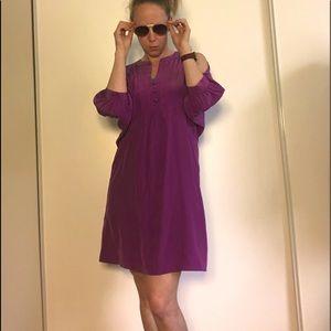 NWT BCBG Cold Shoulder Dress 100% Silk